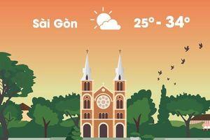 Thời tiết ngày 5/11: Sài Gòn nắng nóng 34 độ C
