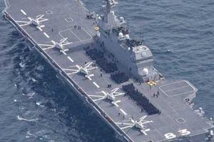 Phản ứng khác lạ của tàu TQ khi thấy tàu sân bay trực thăng Nhật ở Biển Đông