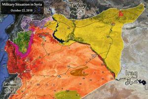 Bản đồ chiến sự Syria tháng 11/2018
