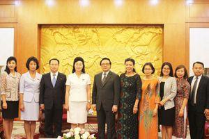 Trưởng Ban Đối ngoại Trung ương tiếp Đoàn đại biểu Hội Phụ nữ XHCN Triều Tiên
