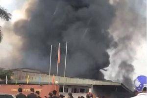 Hưng Yên: Xưởng gỗ 1.500m2 chìm trong biển lửa