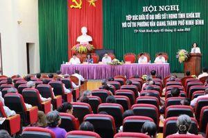 Đại biểu HĐND tỉnh Ninh Bình tiếp xúc cử tri tại phường Vân Giang,TP. Ninh Bình