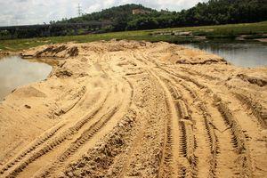 Xử lý nghiêm nạn khai thác cát trái phép ở bãi bồi sông Thu Bồn