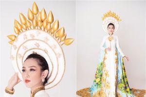 Thùy Tiên công bố quốc phục hoa sen, vào Top 8 nổi bật Hoa hậu Quốc tế