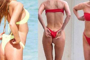 Thiên thần nội y phát khổ vì sở thích mặc quần bikini bé xíu