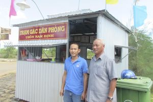 Trạm gác dân phòng Nam Định