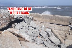 Sóng biển đánh tan hoang đê kè, đe dọa đời sống người Phan Rang