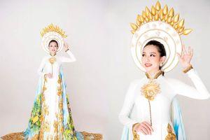 Thùy Tiên khoe vẻ đẹp nền nã với quốc phục truyền thống