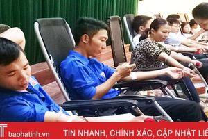 Ngày hội hiến máu nhân đạo, Lộc Hà thu 131 đơn vị máu