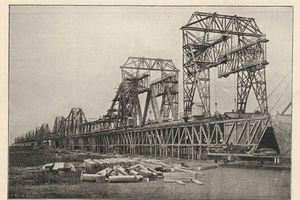 Ảnh xưa hiếm có về cầu Long Biên của Hà Nội