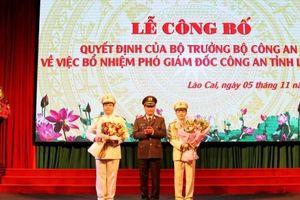 Bổ nhiệm 2 phó Giám đốc Công an tỉnh Lào Cai