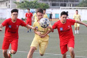 Hình ảnh lượt trận cuối cùng vòng bảng giải bóng đá học sinh THPT Hà Nội 2018