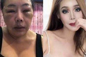 Bất ngờ nhan sắc sau dao kéo của nữ đại gia Thái Lan U60