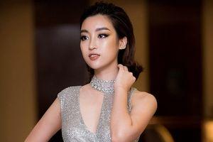 Hoa hậu Đỗ Mỹ Linh quyến rũ hết cỡ với đầm bó 'cắt xẻ'