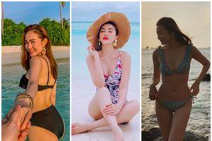 Sắp sang Đông nhưng mỹ nhân Việt vẫn 'đốt mắt' khán giả với bikini nóng bỏng