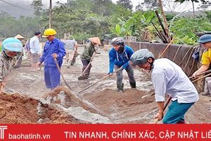 Vũ Quang chỉ mất 700 triệu đồng để làm 1km đường giao thông