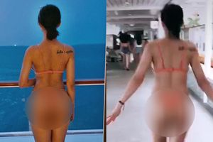 Xóa status cũ đăng clip mới chứng minh vòng 3 xịn, hotgirl Lưu Đê Li vẫn bị soi 'còn khuya mới được như ảnh'