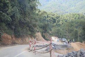 Khắc phục sụt trượt tại dự án Quốc lộ 217 qua Thanh Hóa vì sao bị chậm?