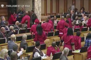 Các ông nghị 'choảng nhau' giữa cuộc họp quốc hội Nam Phi