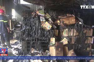 Cháy lớn tại xưởng in bao bì ở Lạng Sơn