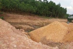 Bắc Giang: Ngang nhiên lấp suối Bài tại thị trấn Thanh Sơn
