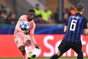 Barca để Inter cầm hòa trong ngày vắng Messi