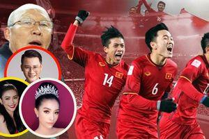 Nghệ sĩ Việt chúc đội tuyển Việt Nam vô địch AFF Suzuki Cup 2018