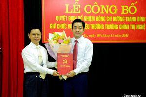 Nghệ An: Trao quyết định bổ nhiệm Phó Hiệu trưởng Trường Chính trị tỉnh