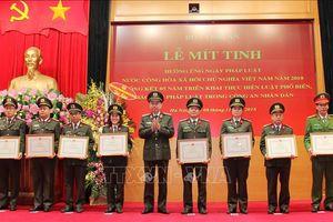 Bộ Công an mít tinh hưởng ứng Ngày Pháp luật Việt Nam