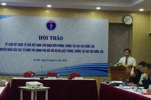 Việt Nam phải bỏ ra 65 nghìn tỷ đồng mỗi năm để khắc phục hậu quả do rượu bia gây ra