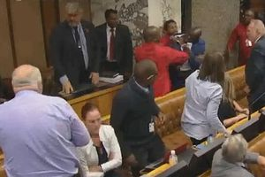 Các nghị sỹ Nam Phi lao vào đánh nhau như giữa chợ