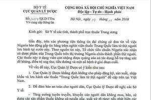 Bộ Y tế nói về thuốc 'làm từ thịt người' của Trung Quốc