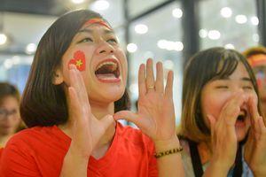 Cổ động viên liên tục ăn mừng chiến thắng 3-0 của Việt Nam