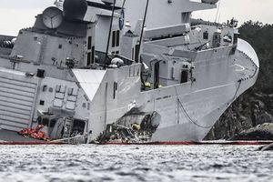 Khu trục hạm Aegis Na Uy sắp chìm sau va chạm với tàu chở dầu