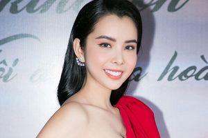 Hoa hậu 'vòng ba 1m' Huỳnh Vy rạng rỡ xuất hiện sau đăng quang