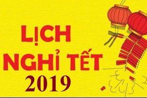 Tết Dương lịch 2019 được nghỉ 4 ngày liên tiếp