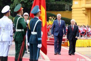 Toàn cảnh lễ đón chính thức Chủ tịch Cuba tại Hà Nội