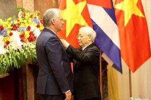 Chủ tịch Cuba: Tình hữu nghị với Việt Nam là lý tưởng chúng tôi sẽ trung thành