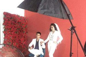 Lệ Rơi tiết lộ hình ảnh hậu trường chụp ảnh cưới