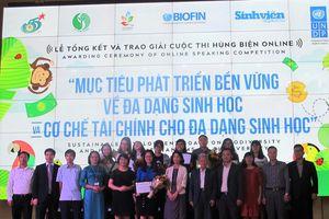 Giải thưởng hùng biện online phát triển bền vững da dạng sinh học trong môi trường sinh viên