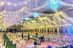 Choáng ngợp rạp cưới 'khủng' trị giá hơn 800 triệu, dùng 100% hoa tươi ở Vĩnh Phúc