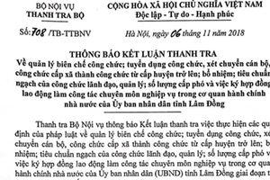 Đề nghị Lâm Đồng miễn nhiệm 5 lãnh đạo, quản lý không đủ điều kiện