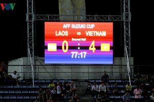 AFF Cup 2018: Bảng điện tử trên sân báo sai tỉ số trận Lào - Việt Nam