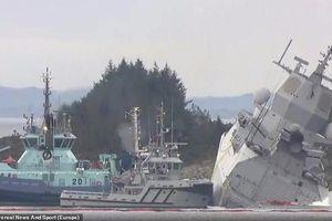 Tàu chiến Na Uy va chạm với tàu chở dầu sau cuộc tập trận với NATO