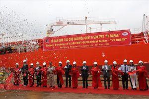 Hải Phòng: Bàn giao tàu dầu 6.500 tấn cho Hàn Quốc