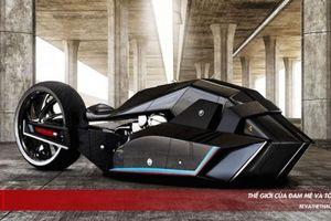 Độc lạ với siêu mô tô BMW Titan concept có khả năng chống đạn