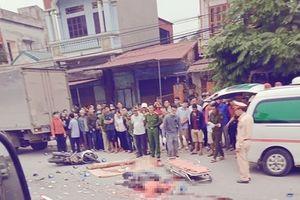 Hưng Yên: Tai nạn giữa 2 xe máy và xe tải, 4 người thương vong