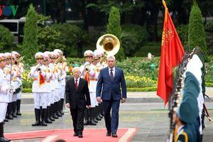 Hình ảnh ngày đầu tiên Chủ tịch Cuba Miguel Diaz Canel thăm Việt Nam