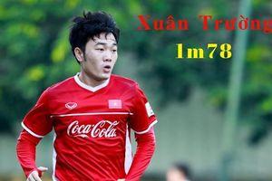 Số đo chiều cao của cầu thủ đội tuyển Việt Nam gây chú ý tuần qua