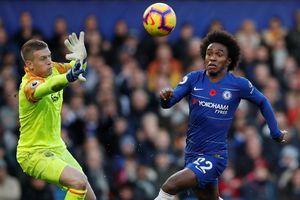 Hazard bị khóa chặt, Chelsea bất lực trước Everton